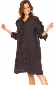 Les Favorites |  See-through oversized dress Norah | black  | Picture 5