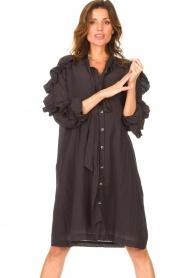 Les Favorites |  See-through oversized dress Norah | black  | Picture 2