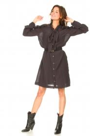 Les Favorites |  See-through oversized dress Norah | black  | Picture 3