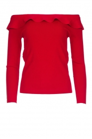 Kocca |  Off-shoulder sweater Orlando | red  | Picture 1