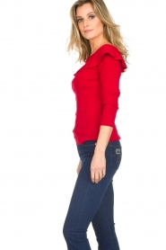 Kocca |  Off-shoulder sweater Orlando | red  | Picture 4