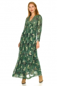 ba&sh :  Floral maxi dress Quartz | green - img3