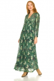ba&sh :  Floral maxi dress Quartz | green - img2