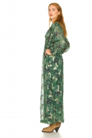 ba&sh :  Floral maxi dress Quartz | green - img4