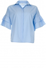 Kocca |  Striped blouse Iand | blue  | Picture 1