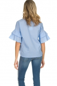 Kocca |  Striped blouse Iand | blue  | Picture 6