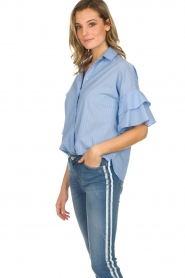 Kocca |  Striped blouse Iand | blue  | Picture 5