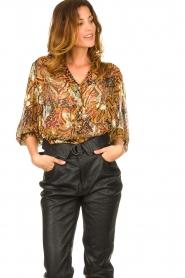 ba&sh |  Floral blouse Quincy | camel  | Picture 2