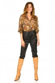 ba&sh |  Floral blouse Quincy | camel  | Picture 3