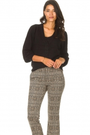 Les Favorites |  Cardigan with buttons Marsha | black  | Picture 4