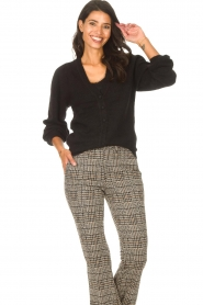 Les Favorites |  Cardigan with buttons Marsha | black  | Picture 2