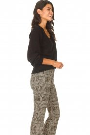 Les Favorites |  Cardigan with buttons Marsha | black  | Picture 6