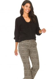 Les Favorites |  Cardigan with buttons Marsha | black  | Picture 5