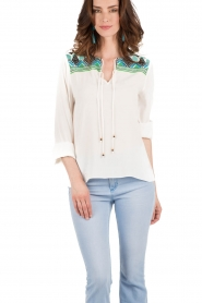 Hale Bob | Blouse Beverly | wit | Afbeelding 2