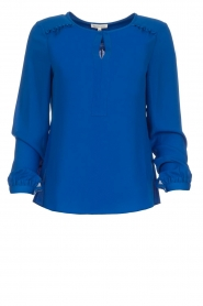 Kocca |  Top with small ruffles Drano | blue  | Picture 1