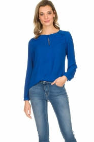 Kocca |  Top with small ruffles Drano | blue  | Picture 2