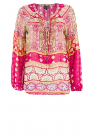 Hale Bob | Zijden blouse Brandie | roze  | Afbeelding 1