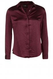 Style Butler | Zijden blouse Maryse | aubergine  | Afbeelding 1
