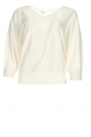 Kocca |  Fine knit sweater Jackie | white  | Picture 1
