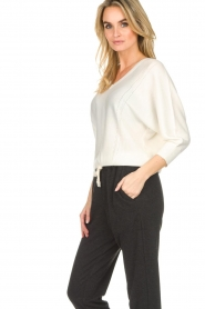 Kocca |  Fine knit sweater Jackie | white  | Picture 5