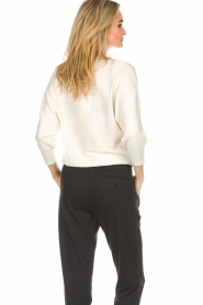 Kocca |  Fine knit sweater Jackie | white  | Picture 7