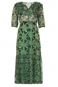 ba&sh |  Floral midi dress Hooper | green  | Picture 1