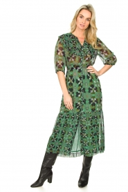 ba&sh |  Floral midi dress Hooper | green  | Picture 2