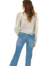 Les Favorites |  Striped cotton blouse Teddy | blue  | Picture 6