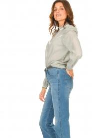 Les Favorites |  Striped cotton blouse Teddy | blue  | Picture 5
