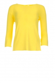 Kocca |  Trumpet sleeve sweater Jeko | yellow  | Picture 1