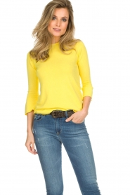 Kocca |  Trumpet sleeve sweater Jeko | yellow  | Picture 2