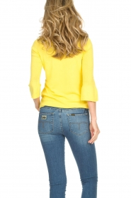 Kocca |  Trumpet sleeve sweater Jeko | yellow  | Picture 4