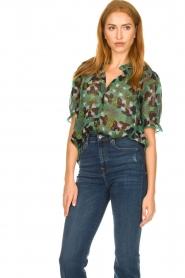 ba&sh |  Floral blouse Havanna | green  | Picture 4