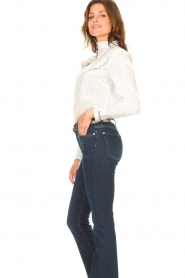 Les Favorites |  Striped cotton blouse Gerrie | white  | Picture 5