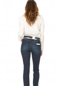 Les Favorites |  Striped cotton blouse Gerrie | white  | Picture 6