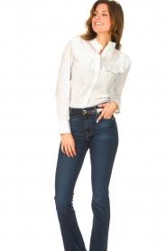 Les Favorites |  Striped cotton blouse Gerrie | white  | Picture 4