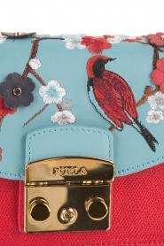 Furla | Leren schoudertas Metropolis Mini verwisselbare flap | rood  | Afbeelding 5