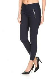 Set |  Luxurious tight fitted pants Meina | dark blue  | Picture 3