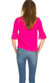 Kocca |  Top with trumpet sleeves Orange | pink  | Picture 6