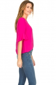 Kocca |  Top with trumpet sleeves Orange | pink  | Picture 5