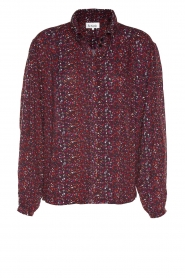 Les Favorites |  Blouse with print Molly | red  | Picture 1