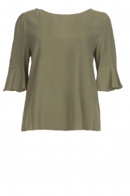 Kocca |  Top with trumpet sleeves Orange | green  | Picture 1