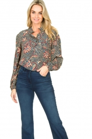 ba&sh :  Floral blouse Jet | blue - img2