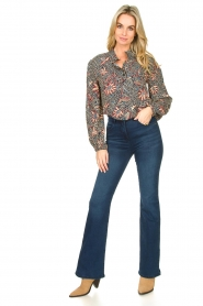 ba&sh :  Floral blouse Jet | blue - img3