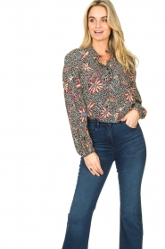 ba&sh :  Floral blouse Jet | blue - img4