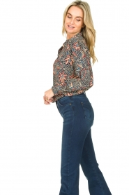 ba&sh :  Floral blouse Jet | blue - img5