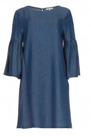 Kocca | Denim jurk met trompetmouwen Roman | blauw  | Afbeelding 1