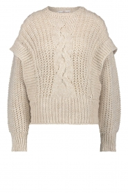 Aaiko    Knitted sweater Bizou   beige    Picture 1