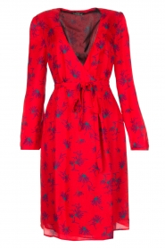 Set |  Dress Brigitta with flower print | Red  | Picture 1