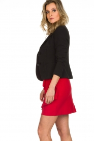 Kocca |  Skirt with ruffles Katia | red  | Picture 4